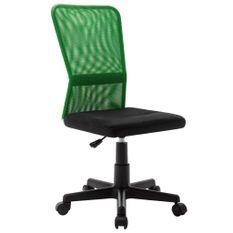 Chaise de bureau Noir et vert 44x52x100 cm Tissu en maille