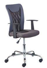 Chaise de bureau réglable simili cuir gris et noir Roll