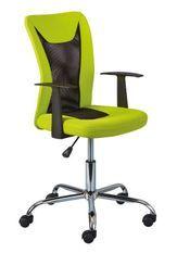 Chaise de bureau réglable simili cuir vert et noir Roll