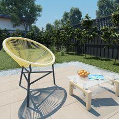 Chaise de jardin Acapulco Résine tressée Beige