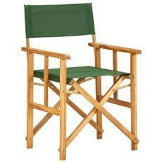 Chaise de jardin polyester vert et acacia massif Maer - Lot de 2