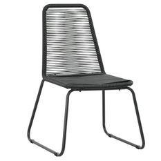 Chaise de jardin résine tressée et métal noir Daget - Lot de 2
