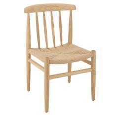 Chaise de salle à manger bois massif clair Praji