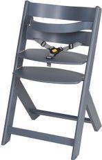 Chaise haute hêtre massif bleu Domino
