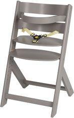 Chaise haute hêtre massif gris Domino