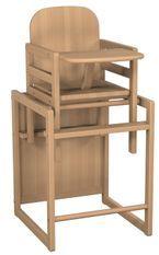 Chaise haute transformable Hêtre Naturel Atelier T4