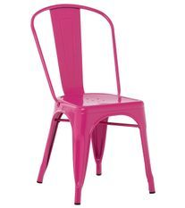 Chaise industrielle acier brillant fuchsia Kontoir