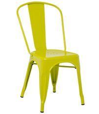 Chaise industrielle acier brillant vert anis Kontoir