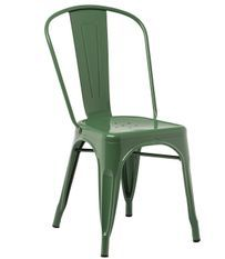 Chaise industrielle acier brillant vert platane Kontoir