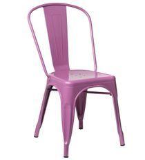 Chaise industrielle acier brillant violet Kontoir