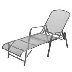 Chaise longue métal anthracite Reikish