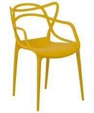 Chaise moderne avec accoudoirs polypropylène jaune Beliano