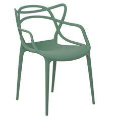 Chaise moderne avec accoudoirs polypropylène vert sapin Beliano
