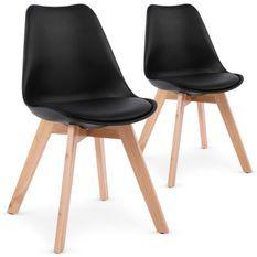 Chaise noir style scandinave Spak - Lot de 2
