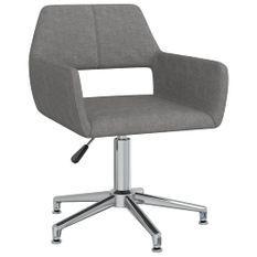 Chaise pivotante de bureau Gris clair Tissu