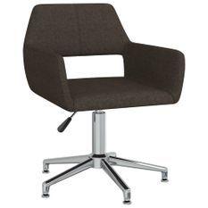 Chaise pivotante de bureau Marron Tissu