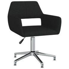 Chaise pivotante de bureau Noir Tissu