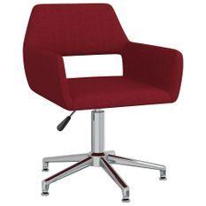 Chaise pivotante de bureau Rouge bordeaux Tissu