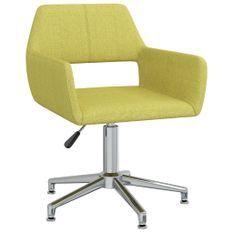 Chaise pivotante de bureau Vert Tissu
