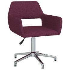 Chaise pivotante de bureau Violet Tissu