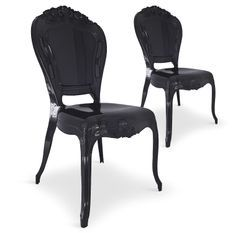 Chaise Plexi noir King - Lot de 2