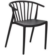 Chaise polypropylène noir Zelina