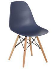 Chaise scandinave bleu nuit et bois naturel Bristol
