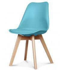 Chaise scandinave bleu turquoise Keny - Lot de 2