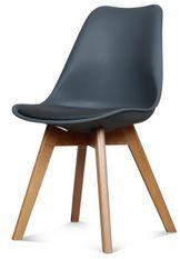 Chaise scandinave gris anthracite Keny - Lot de 2