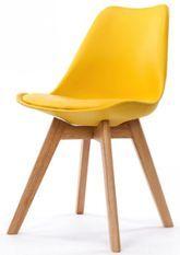 Chaise scandinave jaune Keny - Lot de 2