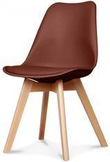 Chaise scandinave marron Keny - Lot de 2