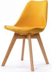 Chaise scandinave miel Keny - Lot de 2
