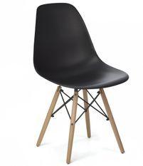 Chaise scandinave noir et bois naturel Bristol