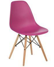 Chaise scandinave prune et bois naturel Bristol