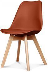 Chaise scandinave rouille Scandy - Lot de 2