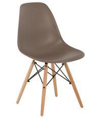 Chaise scandinave taupe et bois naturel Bristol