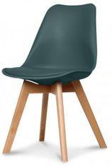 Chaise scandinave vert foncé Keny - Lot de 2