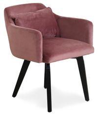 Chaise velours rose Gabby