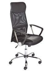 Chaise de bureau réglable simili cuir noir Turin
