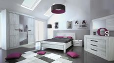 Chambre adulte complète chêne gris Maeva 160
