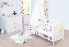 Chambre bébé 2 pièces bois blanc Viktoria 70x140 cm