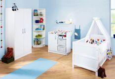Chambre bébé 3 pièces bois blanc Viktoria 70x140 cm
