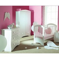 Chambre bébé complète blanche Perle