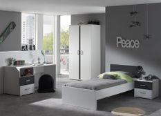 Chambre blanc et gris Kuzo