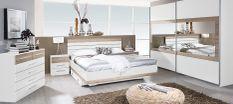 Chambre complète 160 blanc et chêne de Sanremo Tolga