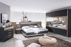 Chambre complète 160 gris métallique et chêne de Sanremo Tolga