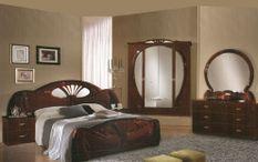 Chambre complète 6 pièces bois brillant acajou Proud 180