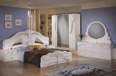 Chambre complète 6 pièces bois brillant blanc Denyz