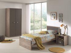 Chambre enfant 3 pièces bois clair et marron Foresta