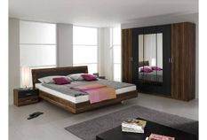 Chambre moderne Noyer et Gris lave Kozy